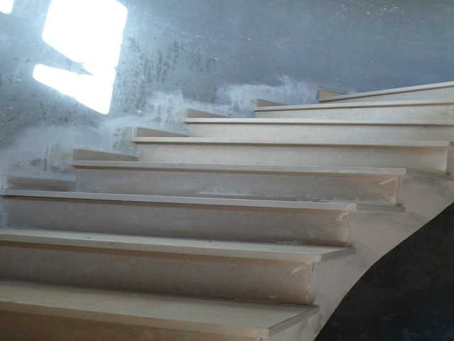 curved stone stairs marble