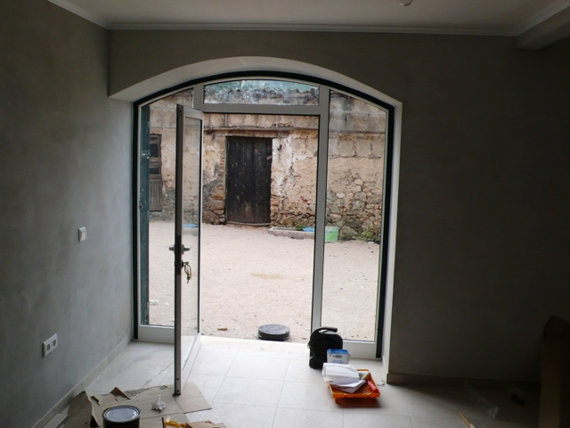 Arch toped patio doors in aliminium