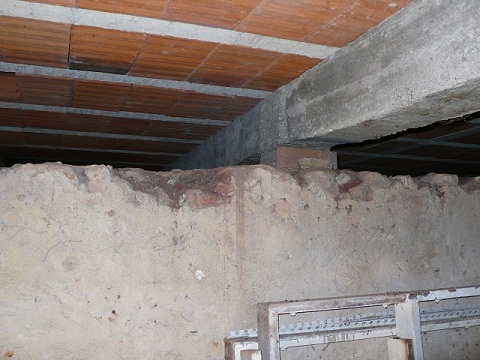 concrete beam removing inside a room