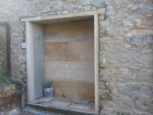 Doors through stone house walls,penelahouse